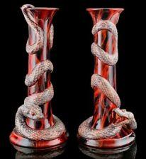 Royal Doulton Flambe Snake Candlesticks Archives Series Puning Panya BA23 BA24