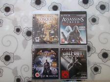 4 PS3 Playstation 3 Spiele,Call of Duty ,Herr der Ringe, Assassins Creed,Batman