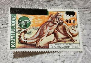 Postage stamp Republique Populaire Du Benin 90 f Poste Aerienne Tyrannosaurus
