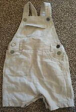 Linen Dungaree Shorts 9-12 Month Mothercare Special Collection Boys Cream romper