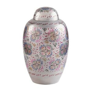 Graceful Bloom Adult Size Brass Cremation Ashes Urn
