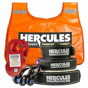 Hercules 4WD Nylon Recovery Kit Essential 4x4 Pack Off Road Snatch Strap Kings
