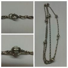 Collana/COLLIER CON PALLINE 835 argento dorato collana argento/COLLIER IN 80 cm