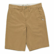 Vans AUTHENTIC Boys Youth Chino Twill Shorts Size 26R Mushroom Brown NEW 2017