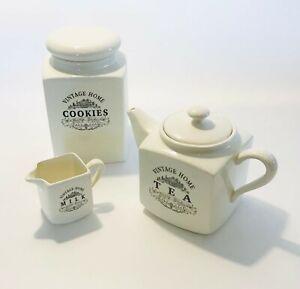 Vintage Home Country Kitchen Jug Teapot Or Cookie Jar Storage Kitchen Ware