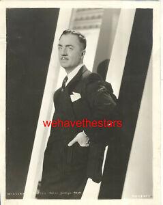 VINTAGE William Powell HANDSOME 30s MGM Publicity Portrait