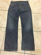 Woman's Lee Lady 101B Jeans *Y12* Button fly 34 X 34 Dirty Blue