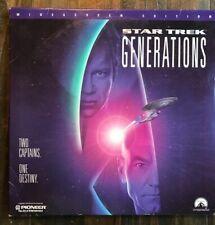 LaserDisc Star Trek Generations - Widescreen William Shatner-Stewart LASER DISC