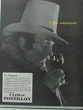 PUBLICITE VIN CLOS DU POSTILLON MAISON GERBAUD LE BOUQUET DE 1926 FRENCH AD PUB