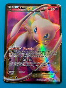 Mew EX 120/124 Dragons Exalted Full Art Holo Pokemon Card - NM