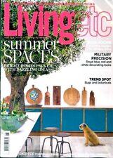 LIVING ETC MAGAZINE JUNE 2018 ~ SUMMER SPACES ~ GARDEN ROOMS ~ NEW ~