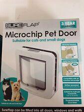 Genuine sureflap microchip pet porte grand catflap petit chien gros chats blanc