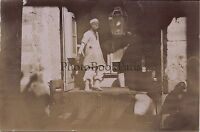 Egitto Cairo che Cammina Foto 6,5x9 CM snapshot Vintage Citrato Ca 1900