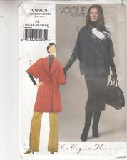 Vogue Woman Jacket Skirt Pants Two Lengths Sewing Pattern 8605 Sizes 16-24
