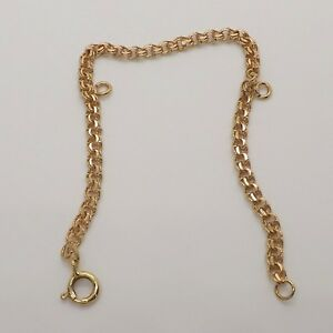 Solid 18k Gold Double Wire Charm Bracelet with Two Jump Rings