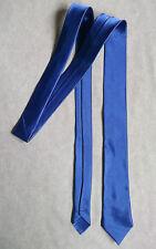 Mens Skinny Neck Tie ROYAL BLUE Silky Shiny Slim Everyday Office Party Wedding