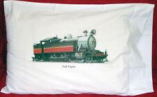 Kids Designer Train Theme Standard White Pillowcase Very Unique Item100% Cotton