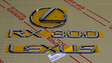2000 OEM NEW LEXUS RX300 CHROME REAR TRUNK EMBLEM KIT 00