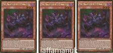 3 x RUBIC MALEBRANCHE OF THE BURNING ABYSS - PGL3-EN046 - 1st Ed Gold Rare