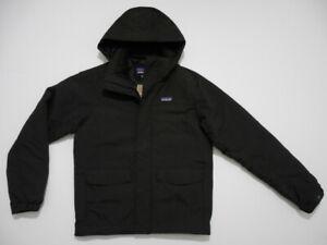 Patagonia Mens Isthmus Regular Fit Heavyweight Jacket Coat Black Small New