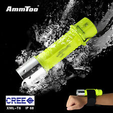 Diving Flashlight Underwater 60M Waterproof Lamp 5000LM XM-L T6 LED Scuba