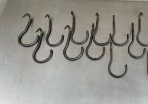 Lot of 16  Vintage Butcher Right Angle  Steel Meat Hooks