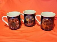 1983 Hamilton  Star Trek Mug Collection  Dr. McCoy Scotty , Chekov  3 mugs guc