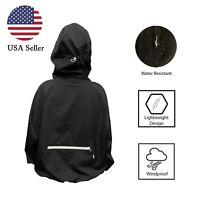 Women's 100% Waterproof Light Outdoor Windbreaker Hooded Rain Jacket Coat USA