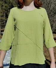 New HABITAT LARGE pieced blouse Nile Green