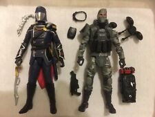 G.I. Joe classified Cobra Commander Saboteur Fire Fly Firefly 6 inch lot of 2