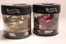 Hot Wheels 35th Anniversary 1/64 Snake Mongoose Rocket Oil Can Set Drag Van NIP