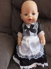 """maids outfit  for 17""""  BABY BORN doll"""