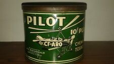 ANTIQUE PILOT CHEWING TABACCO TIN EXTREMELY RARE VERY NICE CONDITION