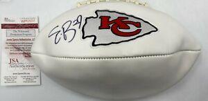 Eric Berry Signed Kansas City Chiefs Logo Full Size Football AUTO JSA COA