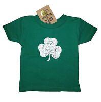 Distressed TODDLER Shamrock T-Shirt Tee Kids Irish Green Boys Girls 2T 3T 4T 5T