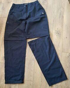 Womens Craghopper Solardry navy convertible trouser Long 16 UK walking hiking