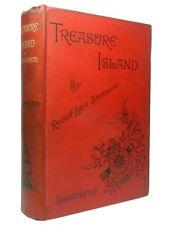 TREASURE ISLAND BY ROBERT LOUIS STEVENSON 1885 First Illustrated Edition