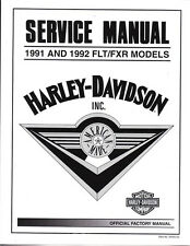 1991-1992 Harley FLT FXR Ultra Tour Super Glide Low Rider Repair Service Manual