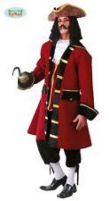 COSTUME CAPITAN UNCINO LUSSO Carnevale Pirata Corsaro Peter Pan Tesoro 110 80515