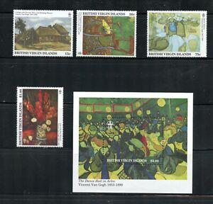 Z606 British Virgin Islands 1991  Van Gogh  art paintings     MNH