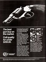 1983 COLT Agent New 38 Special Revolver Gun Firearms AD~COLLECTIBLE ADVERTISING