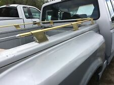 VINTAGE FORD yacht style BED RAILS gold FORD badged WILL fit all beds