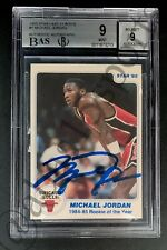 1985 STAR MICHAEL JORDAN 1984-85 ROOKIE OF THE YEAR AUTO CARD BGS 9 UDA SIGNED 1