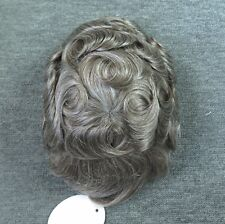 Undetectable Mens Hair Replacement System Full Swiss Lace Human Toupee Wig #565