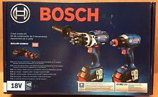 Bosch 18V Core 6.3 Ah Li-Ion Hammer Drill / Impact Driver Kit  GXL18V225B24 New