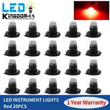 20X Pure Red T3 Neo Wedge LED Car Dashboard Panel A/C Climate Control Light Bulb