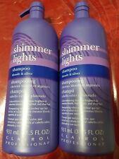 2 pack Shimmer Lights Shampoo Blonde & Silver 31.5 fl oz ea Clairol Professional