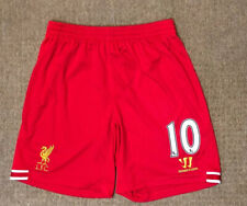 Men's Liverpool home football shorts size L number 10 Warrior 2013-2014