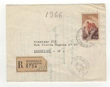 France 1 timbre sur lettre R 1966 tampon Marseille /L442