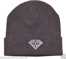 Diamond Supply Co. BRILLIANT Burgundy Grey Multi Flecks White Men s Beanie 24cd8f9bd887